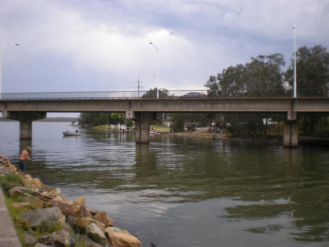 The River and Bridge at Budgewoi