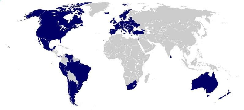 Hague Convention Members Map