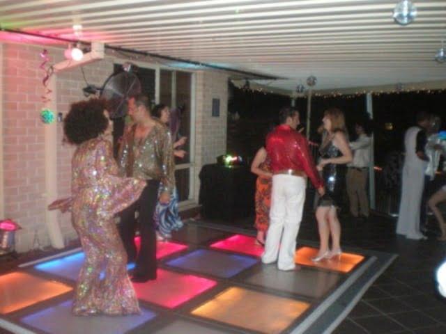70's disco dance floor