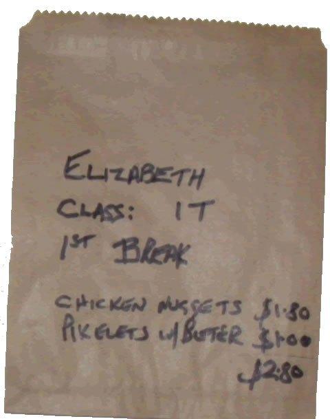 Tuckshop bag