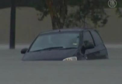 sinking car in Brisbane