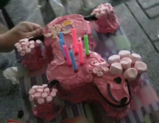 Pink Poodle Birthday Cake