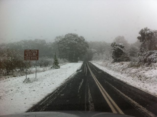 Snow in Orange, NSW, Australia