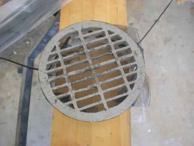 attatch mesh to drain cover