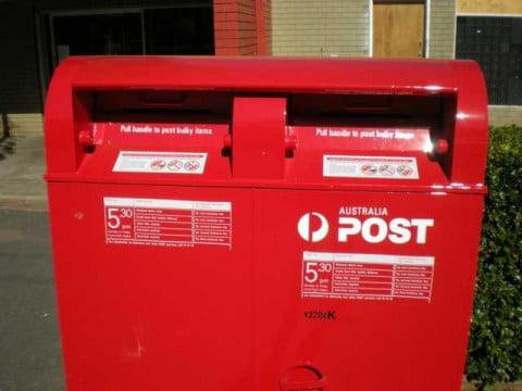 Australia postbox close-up