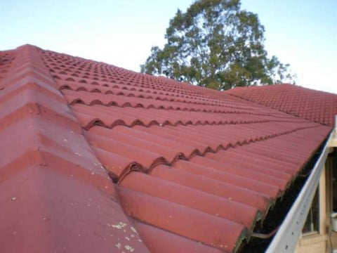 West roof before