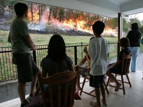 Fires in Brisbane
