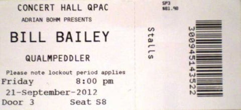 Bill Bailey Qualmpeddler Ticket