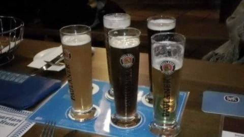 Five Bavarian beers