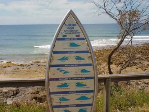 Surfers Code Sign