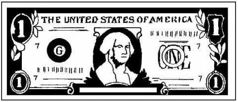One US dollar