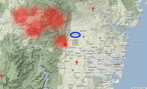 Bushfires Map