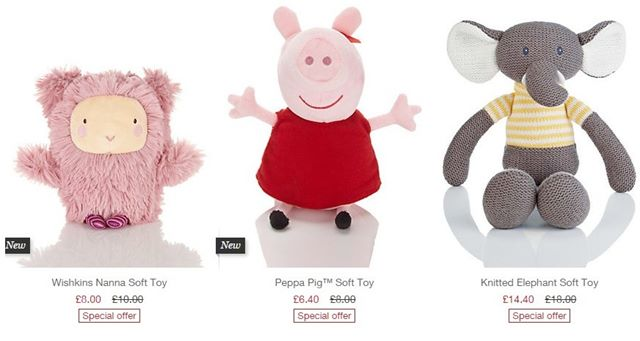 M & S cuddly toys