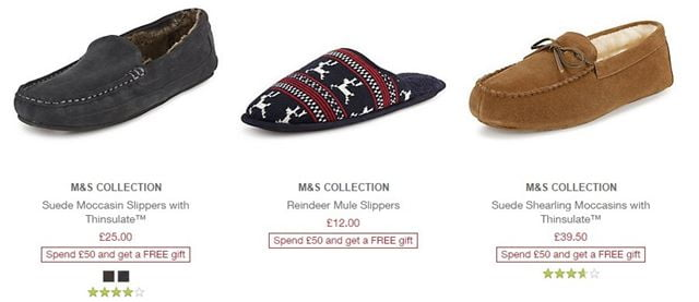 m & s slippers