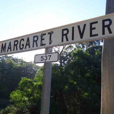 Margaret River signpost