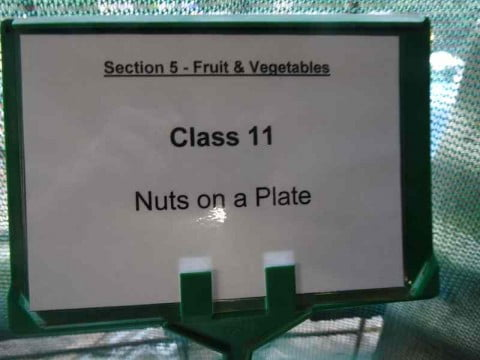 Nuts on a plate sign