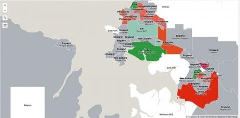 Darwin migrant map