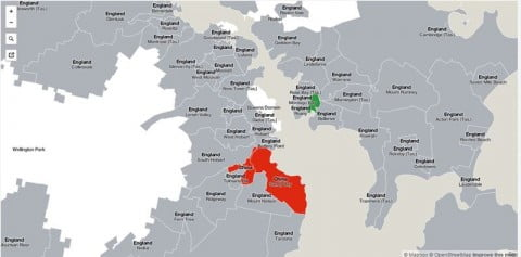 Hobart migrant map