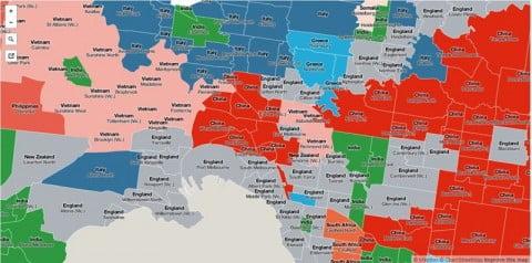Melbourne migrants map