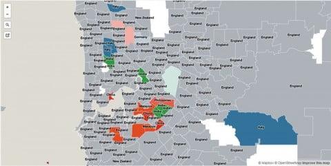 Perth migrant map