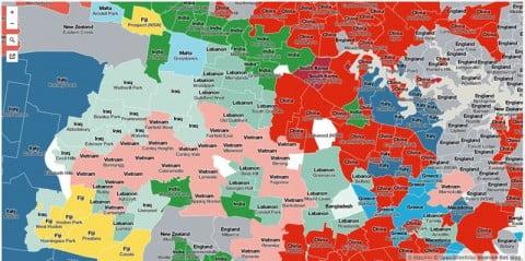 Sydney migrants map