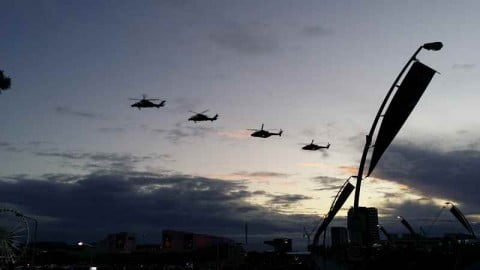 Helicopters over Brisbane