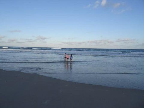 Beach paddling