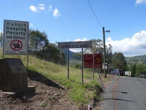 Queensland border
