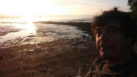 beach-sunset-selfie