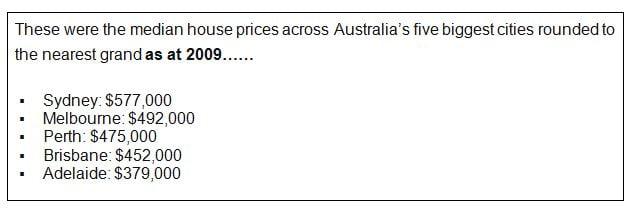 house prices 2009