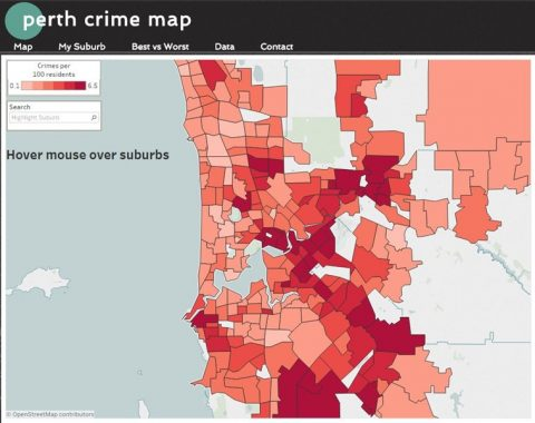 Perth Crime Map