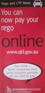 """Australian Goverment """"Rego"""" Leaflet"""