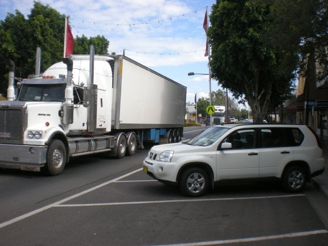 Lorries Passing Through Moree