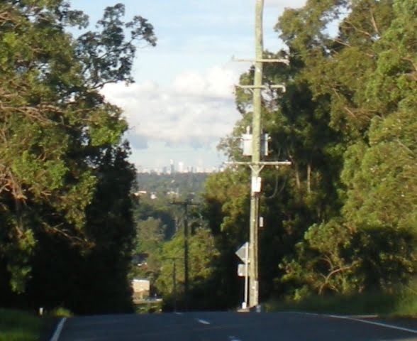Brisbane City from 15 Miles West