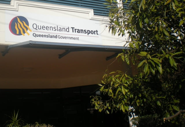 "A Queensland Transport ""shop""."