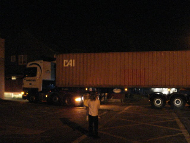 Our Container begins it's journey