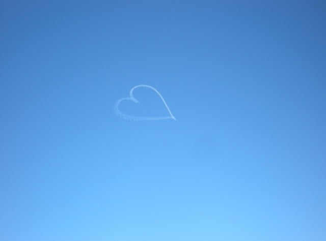 Heart shape in the sky
