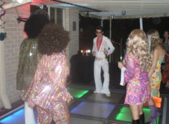Elvis poses