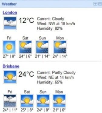 UK versus Australia weather