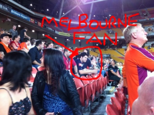 A Melbourne fan