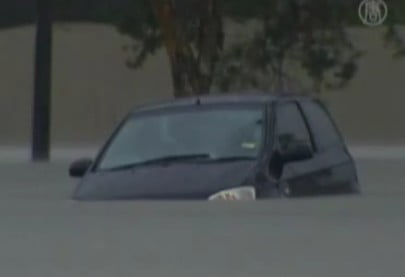 sinking car in Brisbane