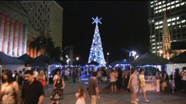 The world's tallest solar powered Christmas tree