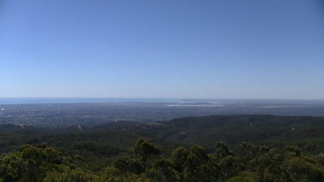 Adelaide viewed from the hills