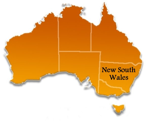 New South Wales Australia Towns Cities and Localities