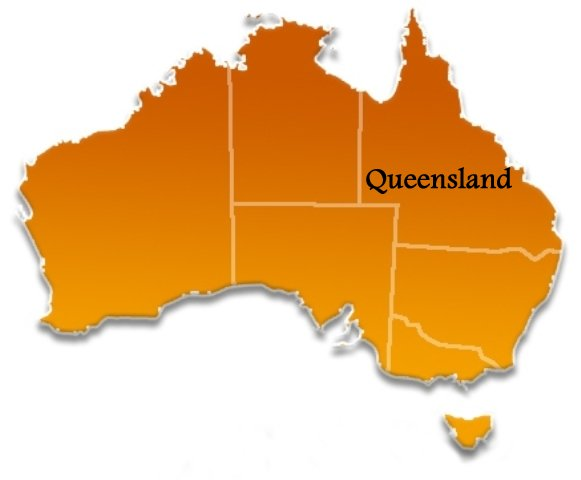 Map Australia Queensland.Queensland Australia Towns Cities And Localities