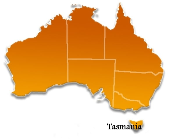 Tasmania State Location Map