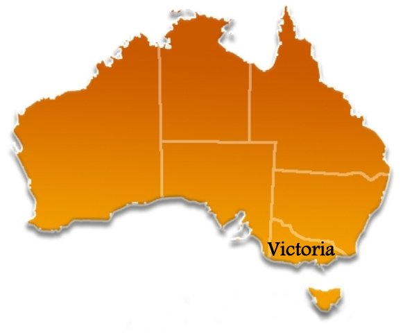 Victoria Location Map