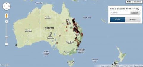 Coal Seam Gas Map