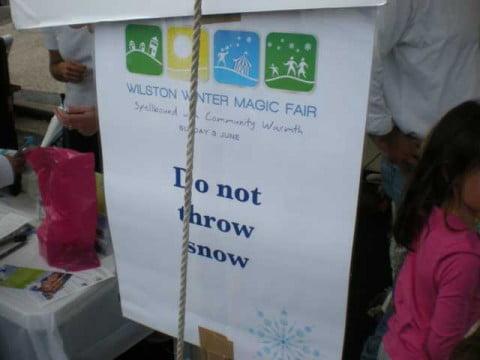 Do not throw snowballs