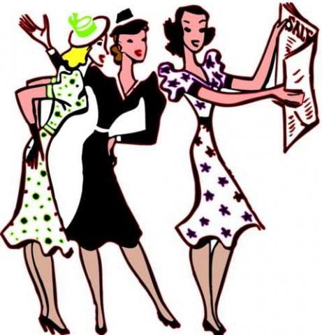 girlies shopping